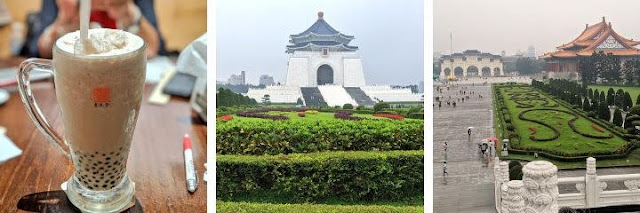 Taipei itinerary: Chiang Kai-Shek Memorial Hall and Garden plus Taiwanese bubble tea