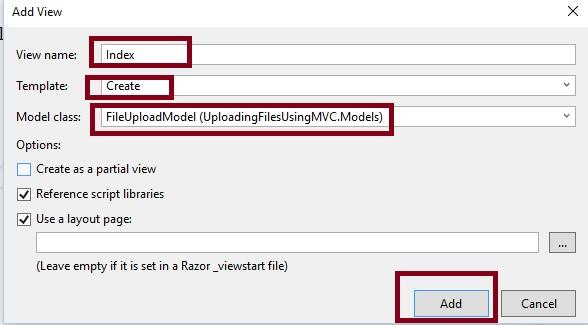 Uploading Files In ASP NET MVC Using HttpPostedFileBase