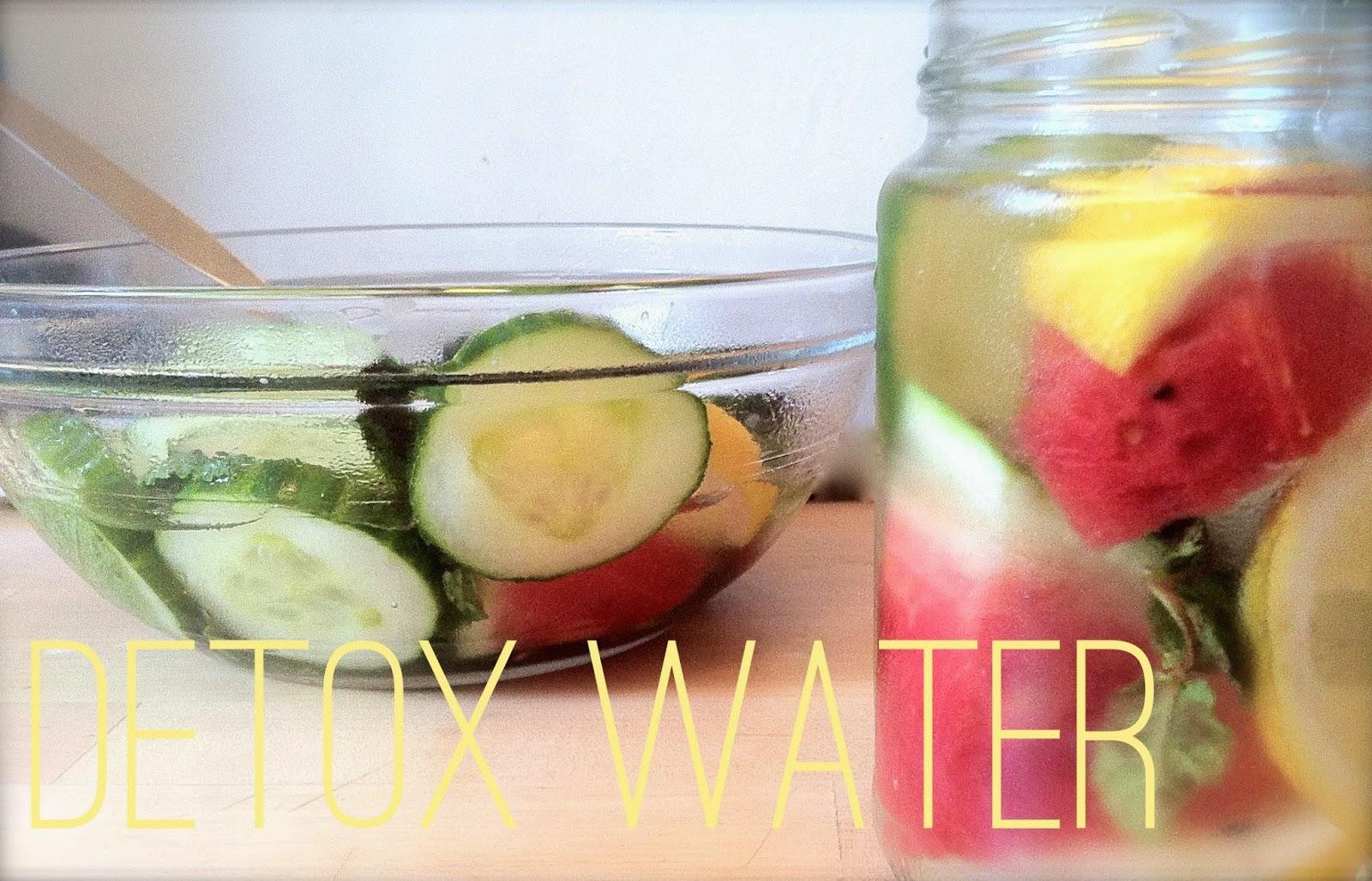 Watermelon, cucumber, mint and lemon detox water