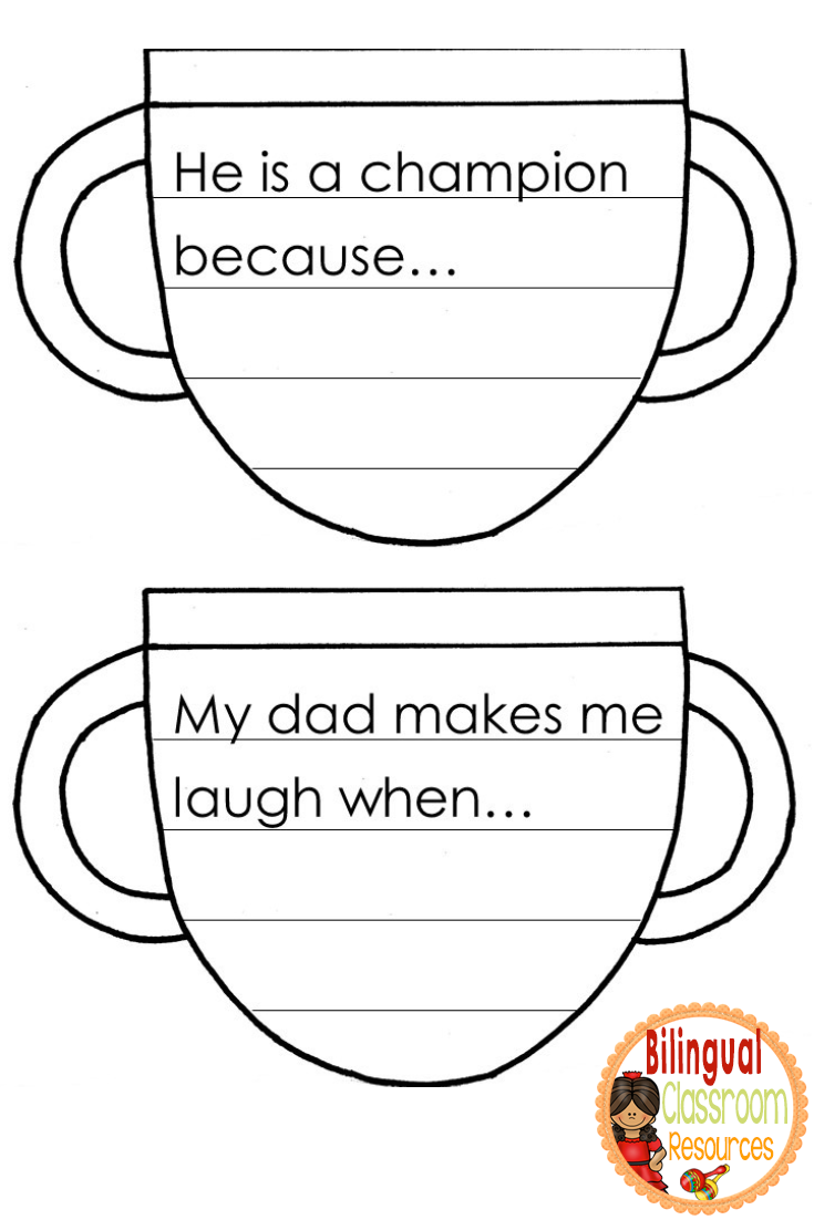 Father's Day Writing Craft  (English and Spanish)