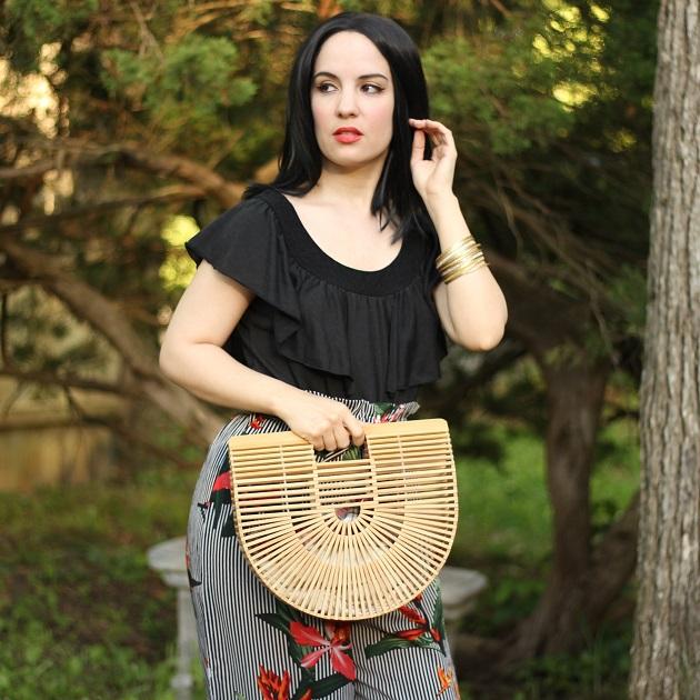 Popjulia Bamboo Basket Bag