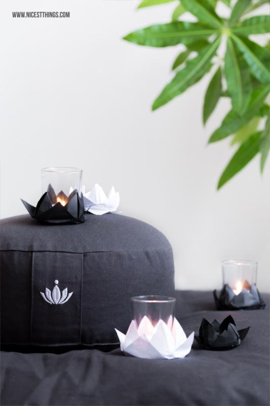 DIY Origami Lotus Lotusblüte Teelichthalter #diy #origami #lotus #meditation