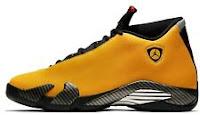 Air Jordan 14 Yellow Ferrari Reverse Retro University Gold