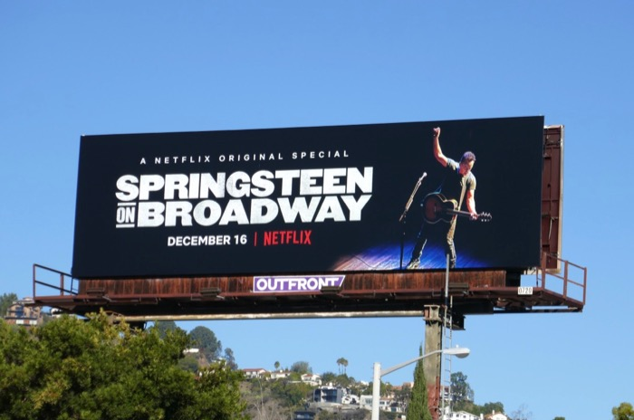 Springsteen on Broadway Netflix special billboard