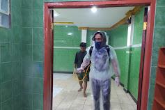 Jurnalis Bela Negara Berhasil Gelar Penyemprotan Disinfektan di 2 Masjid, 5 Fasilitas Umum dan 8 Rumah