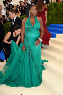 Photos: Serena shows baby bump at the Met Gala in New York