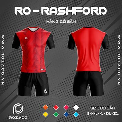 Áo Không Logo Rozaco RO-RASHFORD Màu Đỏ