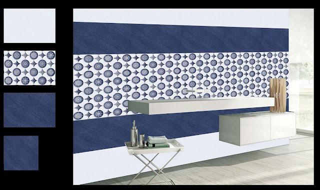 Dark Blue Bathroom Tiles