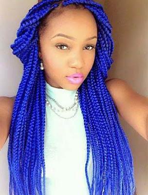 trenza africana azul tumblr