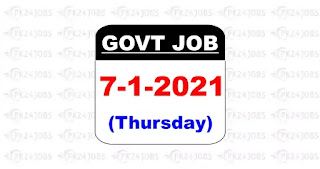 govt jobs 2021