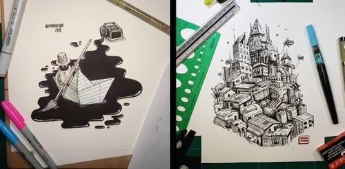 00-Ink-Doodles-Pedro-Josue-Carvajal-www-designstack-co