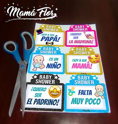 Baby Shower de Niño: Letreros Divertidos para Imprimir