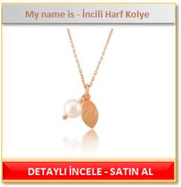 My name is - İncili Harf Kolye