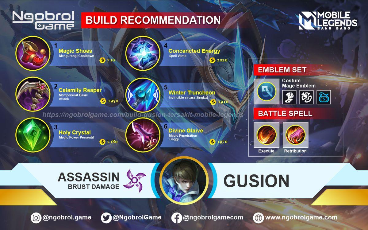 Build Gusion Tersakit 2021 Mobile Legends