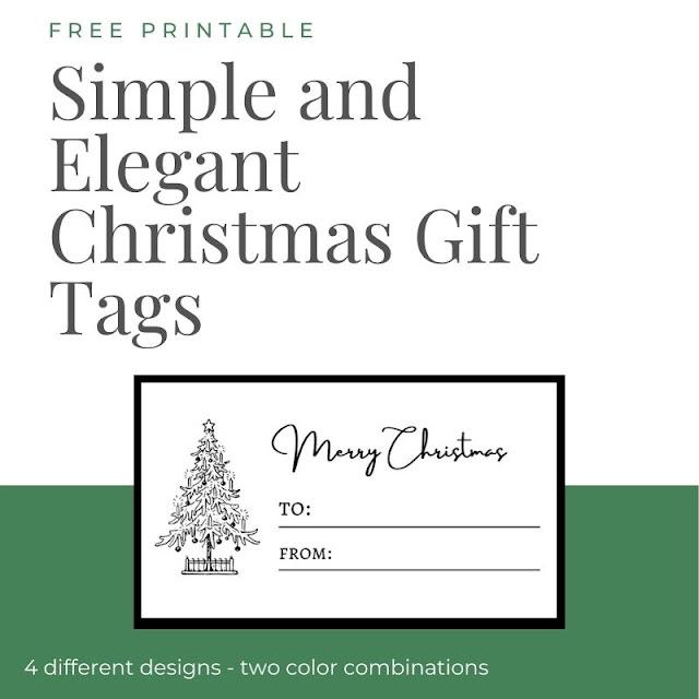 Simple and Elegant Christmas Gift Tags - free printable