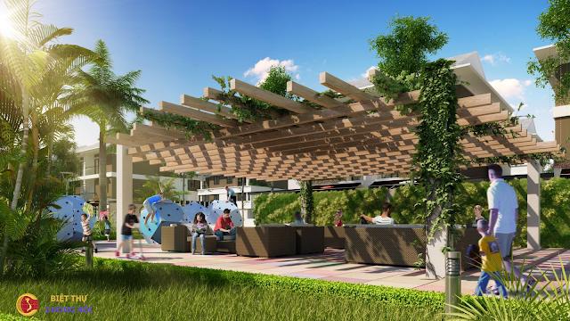 Không gian xanh biệt thự An Phú Shop Villa