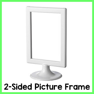 IKEA 2-Sided Picture Frames are perfect to use for Literacy Centers!