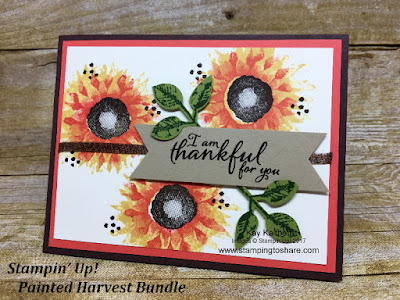 Stampin' Up! Painted Harvest Bundle created by Kay Kalthoff for Sept 2017 Stamping to Share Demo Meeting Swap.