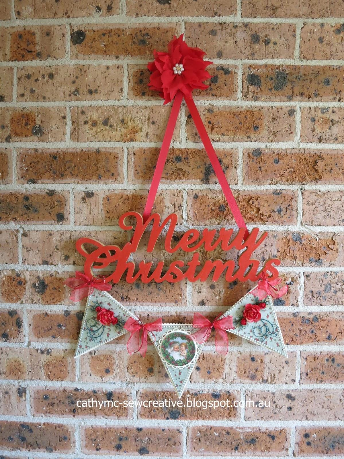 Sew Creative Kaisercraft Christmas Script Wall Hanging