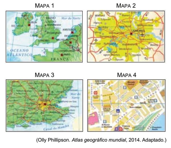 Famema 2016 A Representacao Da Superficie Terrestre Em Mapas Pode Ser Elaborada Segundo Diferentes Escalas Como Disposto A Seguir Indagacao