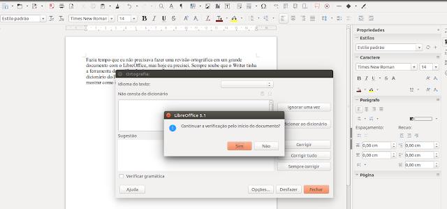 Correção ortográfica no LibreOffice