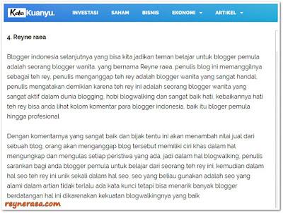 blogger indonesia yang menginspirasi katakuanyu