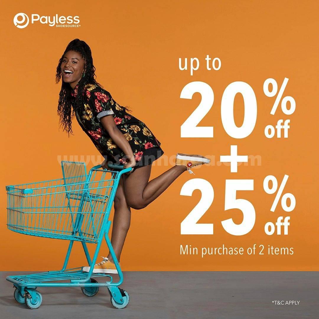 PAYLESS Promo End of Season Sale BUY 2 Get 25% Off