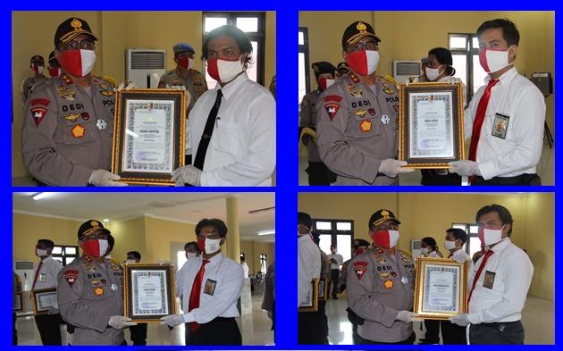 Ini Nama 8 Personel Polres Kapuas Terima Penghargaan dari Kapolda Kalteng