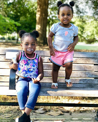 Adorable photos of Davido's daughters Imade and Hailey