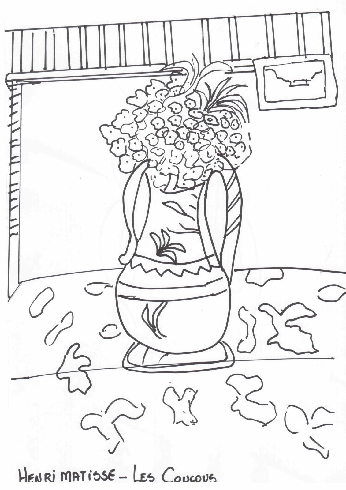 Henri Matisse Coloring Pages - Eskayalitim