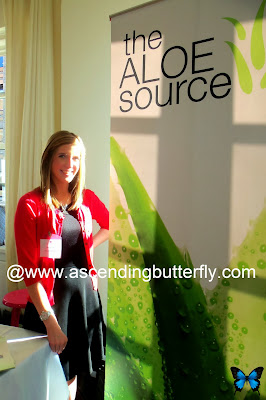 the Aloe Source, exhibitor booth at Fall 2013 Beauty Press Spotlight Day