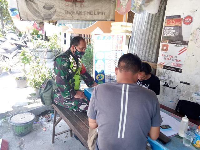 Ops PPKM Skala Micro Diwilayah Dilakukan Personel Jajaran Kodim 0207/Simalungun Diwilayah Binaan