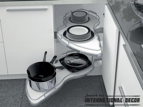pull out drawers,pull out shelves, extendable kitchen carousel