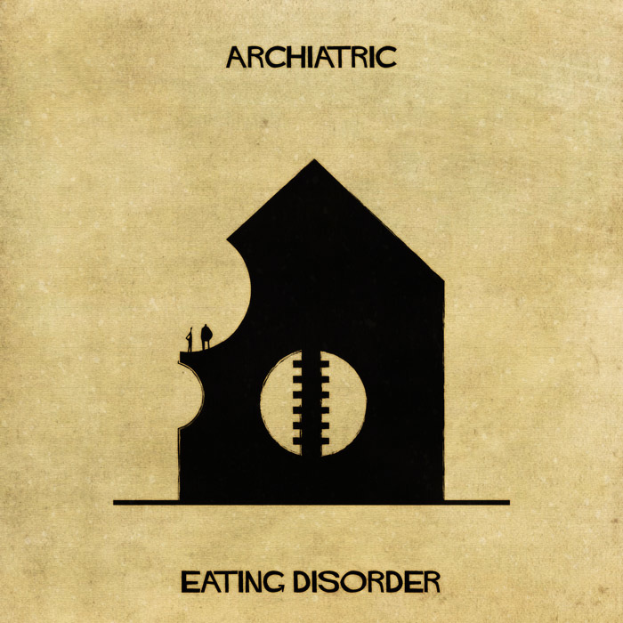 16 Mental Disorders Illustrated Through Architecture - Eating Disorder