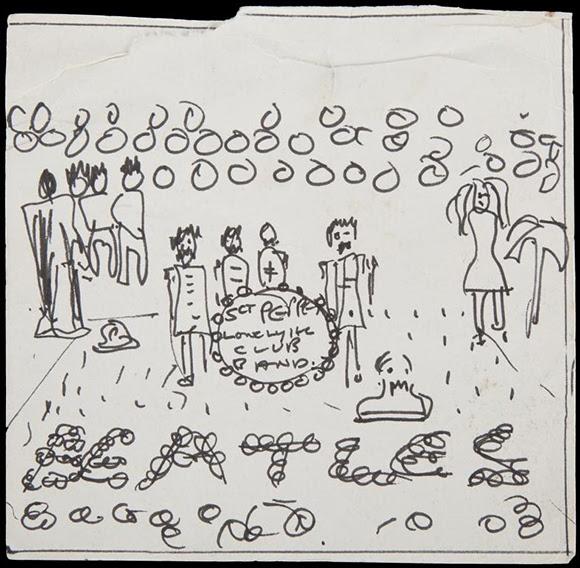 Pochette « Sgt. Pepper » : un dessin attribué à John Lennon en vente