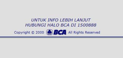 halo bca nomor telepon center bca untuk cek sisa limit kredit