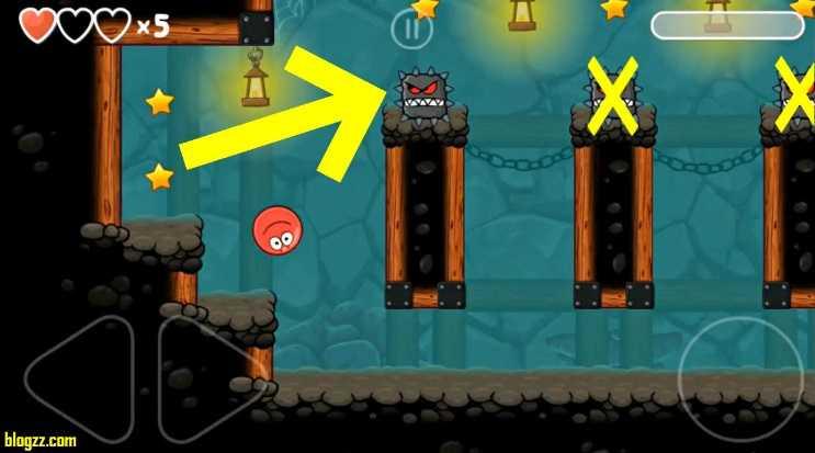 Red Ball 4'te tuzaklara dikkat etmeden ilerlemeniz sürekli can kaybetmenize neden olacaktır.
