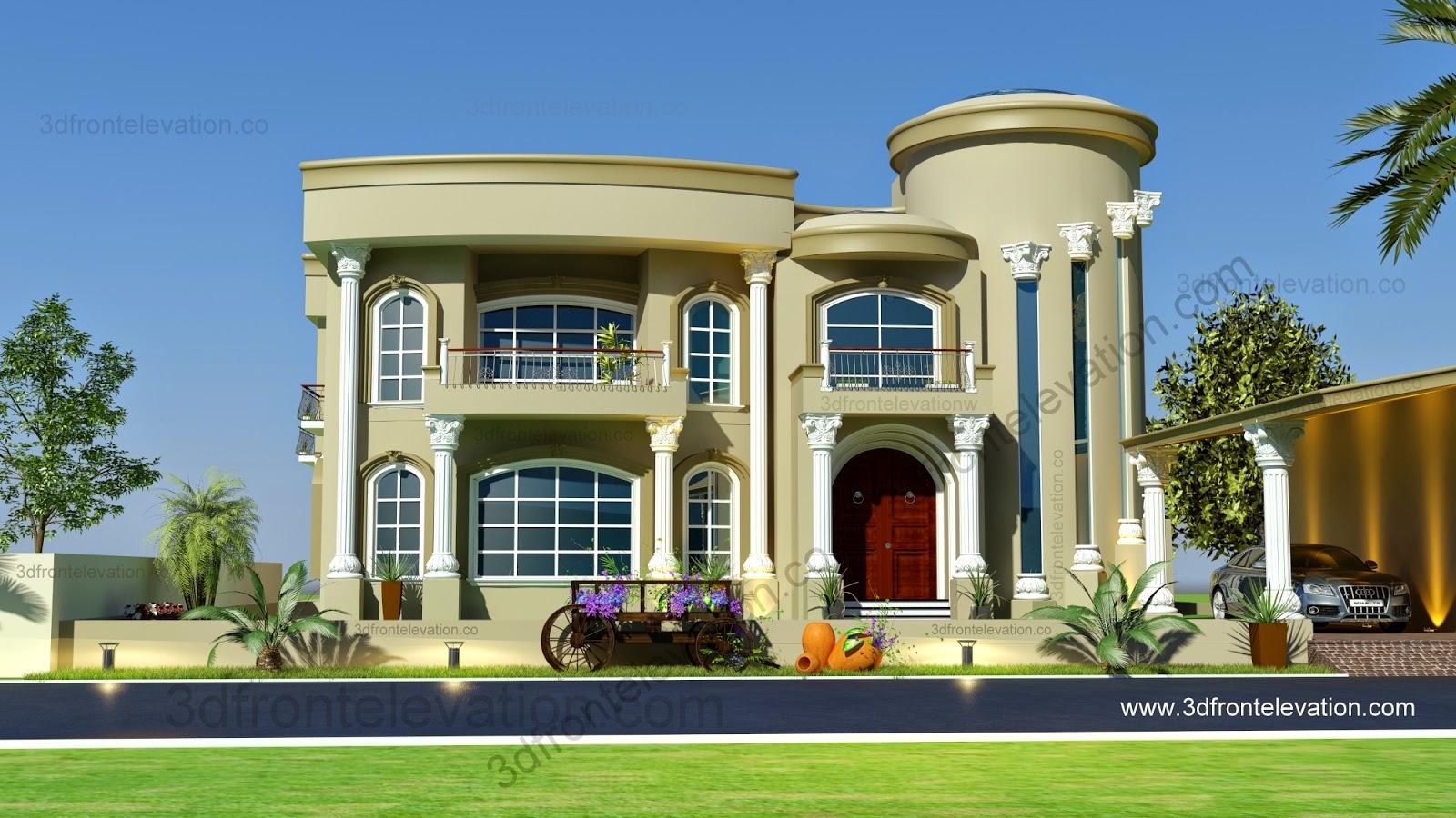 3D Front Elevation.com: Beautiful Modern Villa Design 2015 ...