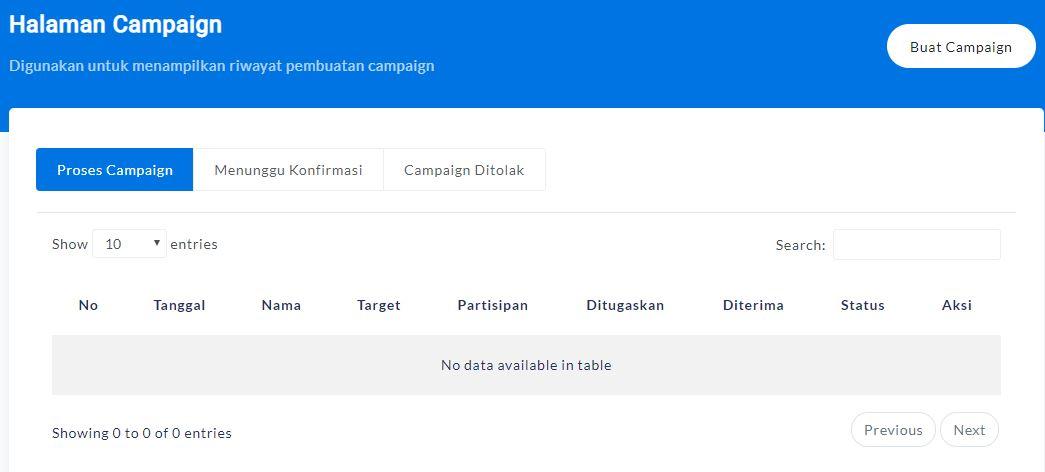 Halaman Campaign