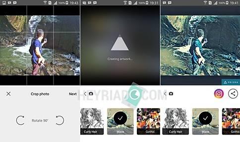 Cara Menggunakan Aplikasi Prisma Android