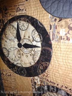 Watch the Clocks, yet more quilting detail