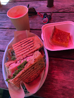 Amazing turkey sandwich and goodies
