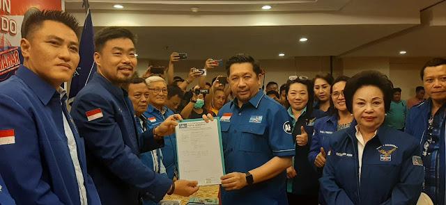 SAH ! Mor Bastiaan Daftar Balon Walikota Manado di Partai Demokrat