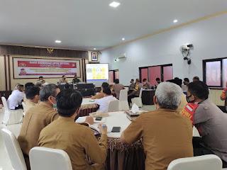 Polres Enrekang Rapat Koordinasi Lintas Sektoral Menyambut Idul Fitri dan Operasi Ketupat 2021
