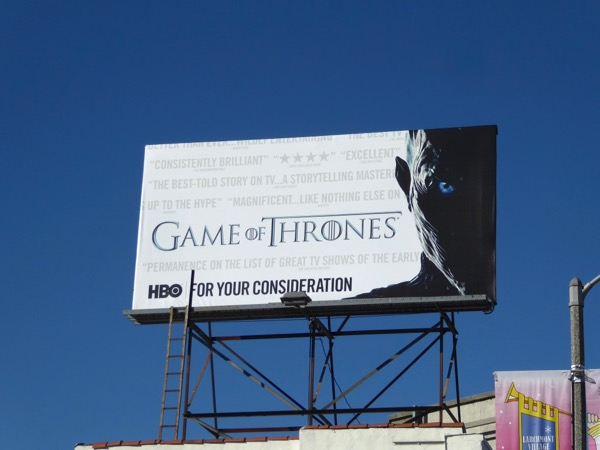 Game of Thrones season 7 FYC billboard