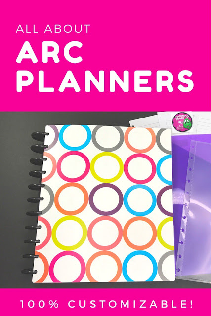 The Arc Planner: The Best Personalized Planner! - Create a 100% customizable planner using the ARC Planner system! This system can be used for teacher or life planners. In addition, it can be reused and modified as your needs change.