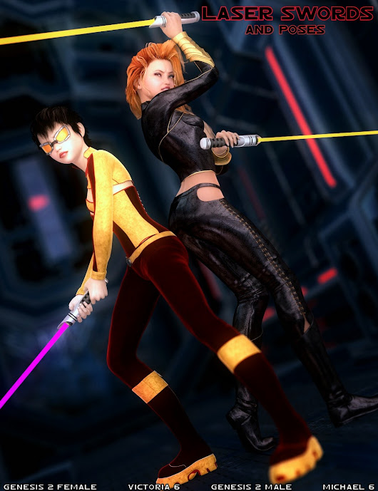 DAZ 3D - Laser Sword and Poses