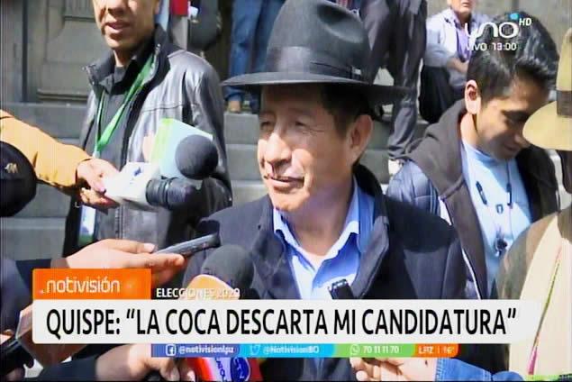 ¿Vicepresidente? La coca le dice NO a Rafael el tata Quispe. Políticos creen que está apuntando a Gobernador
