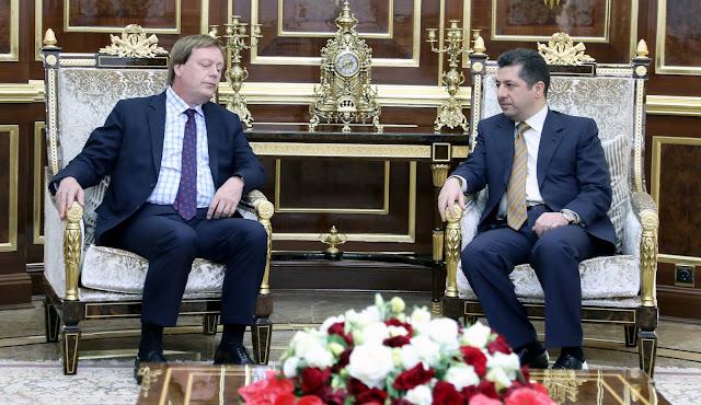 Mesrur Barzani, İngiltere Büyükelçisi ile görüştü Mesrur Barzani Görüşme Irak