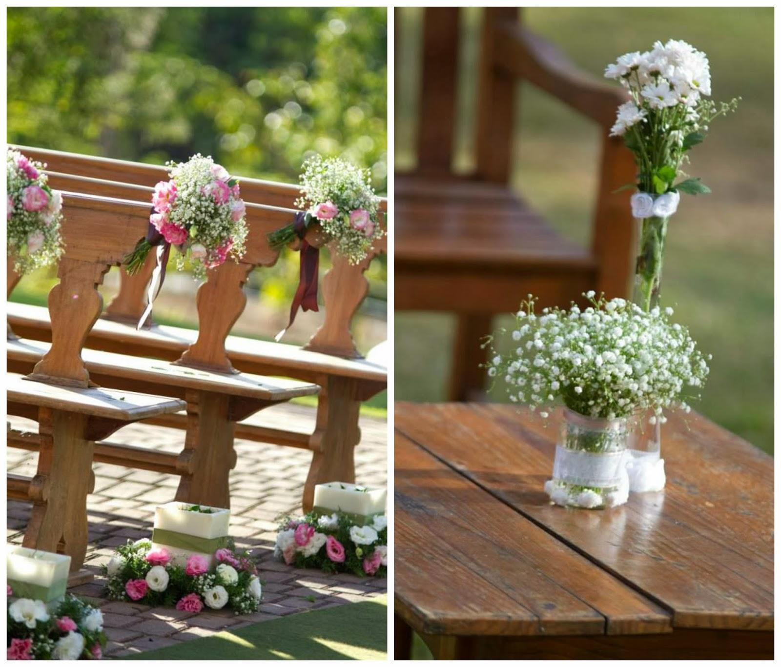 cerimônia - casamento ao ar livre - decoração - casamento de dia - flores - bancos na cerimônia - detalhes - vale verde betim